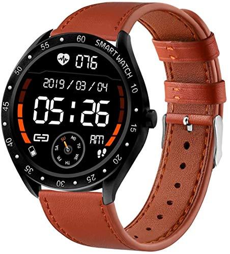 Reloj inteligente inteligente con pantalla táctil de 1.3 pulgadas, rastreador de actividad con frecuencia cardíaca, presión arterial, monitor de sueño de oxígeno, reloj deportivo impermeable