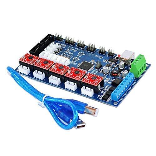 3D-Drucker Steuerplatine MKS Gen V1.2 + DRV8825 Schrittmotor Treiber Modul + USB-Kabel