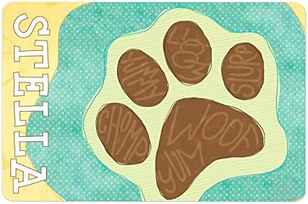 Pet Dog Feeding Mat for Food and Water Bowl Personalized product image