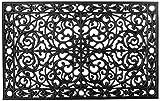 Calloway Mills 900223048 Gatsby Rubber Doormat, 30' x 48', Black