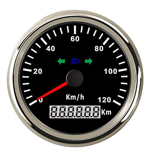 JF-XUAN 120 kilometros 85mm GPS Velocímetro cuentakilómetros / h alarma de exceso...