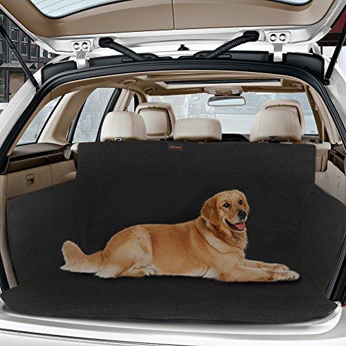 """Topist Kofferraumschutz Hunde,Wasserdicht Hundedecke Auto,rutschfest Kofferraumdecke mit Seitenschutz,Autoschondecke für Hunde,Schützt Auto SUV vor Kratzern,Schmutz und Tierhaaren - 61\""""x41\"""""""