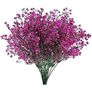 Bettgitter 12PCS Artificial Shrubs Flowers Grasses, Fake Plant Plastic Bouquet, Narcissus Indoor Outdoor Table Centerpieces Arrangements Home Kitchen Office Decoration