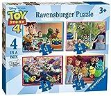 Ravensburger-6833 Ravensburger Disney Pixar Toy Story 4, 4 en una Caja (12, 16, 20, 24 Piezas) Rompe...