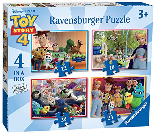 Ravensburger- Toy Story 4 Puzzle per Bambini, Multicolore, 4 in 1, 06833
