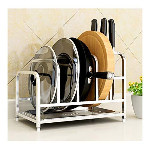 JXLBB El Estante de la Cocina se Puede Colocar en la Tapa del Estante de Almacenamiento de la Tabla de Cortar para el hogar (21.5x33.5x25cm) (Color : Silver)