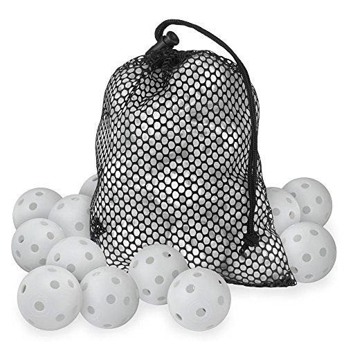 25 PearlGolf Airballs im Meshbag - Luftbälle - Übungsbälle, Weiß