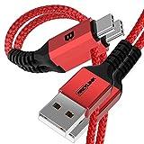 BrexLink Cavo USB Tipo C, Caricatore USB Type C (2.0M, 2 Pezzi) Cavo Ricarica Rapido per Samsung Galaxy S10 S9 S8 Plus,Nota 8 9, LG V30 G6 G5,Huawei P9,Xiaomi,Nintendo Switch (Grigio)