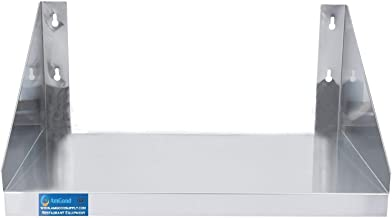 AmGood Stainless Steel Microwave Shelf | Metal Appliance Shelving | Heavy Duty | Commercial Grade | Wall Mount | NSF Certified | Silver (18