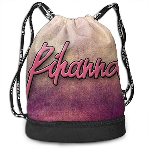 JINGS Rihanna Multifunction Personality Bundle Mochila Bolsa con cordón Sport Bag for Everyone