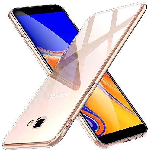 Peakally Samsung Galaxy J4 Plus Hülle, Soft Silikon Dünn Transparent Hüllen [Kratzfest] [Anti Slip] Durchsichtige TPU Schutzhülle Hülle Weiche Handyhülle für Samsung Galaxy J4 Plus 6.0