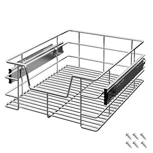 Deuba Cajón telescópico bandeja de metal extraíble 40cm organizador interior almacenaje para cocina baño armario taller