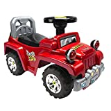LuvLap Ranger Jeep Car Ride On for Kids, Battery Operated Music & Light, 12 Months + (Red)