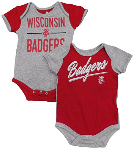 Outerstuff Wisconsin Badgers Baby/Infant Descendant 2 Piece Creeper Set 12 Months