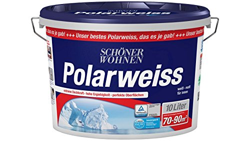 SCHÖNER WOHNEN FARBE Innenfarbe Polarweiß 10L scheuerbeständig 10 l, weiß
