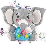 aovowog Peluche Interactivo Elefante,Juguetes Bebés 6 Meses más,Juguetes...
