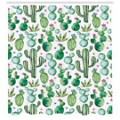 Green Shower Curtain, Mexican Texas Cactus Plants Spikes Cartoon Like Artistic Print, Fabric Bathroom Set with Hooks, White Pale Pink and Lime Green, by Ambesonne - Walmart.com