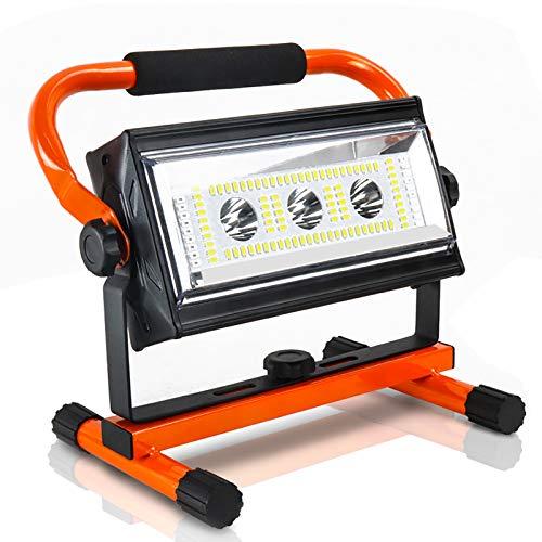 Led Baustrahler, Mefine 80W Akku Strahler 3000LM Kaltweiß Baulampe Led Arbeitsleuchte Tragbare Baustellenlampe, Drehbar, USB Ausgang-Ports, Außen Beleuchtung für Camping, Arbeit, Garage