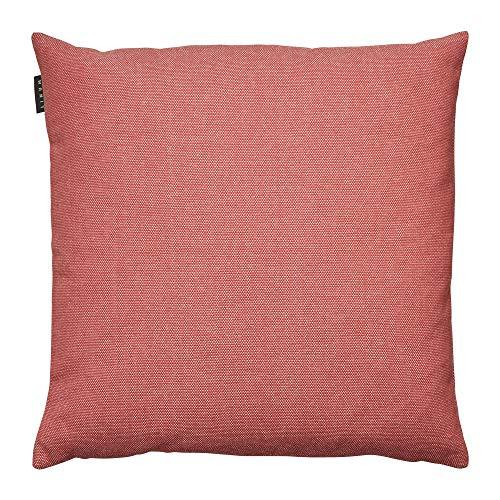 LINUM PEPPER Eleganter Kissenbezug für Dekokissen 40cm x 40cm, 100% Baumwolle, Maschinenwaschbar, Korallenrot