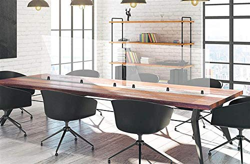 Office Accents Antimicrobial Desktop Panel, Protective Acrylic Shield & Sneeze Guard Desk Divider for Tabletop & Cubicle Mount - Perfect for Offices, Schools, Libraries & More - Clear, 48' x 30'
