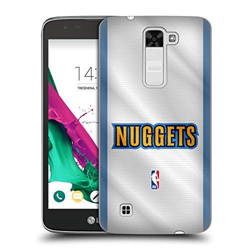 Head Case Designs Oficial NBA Jersey Denver Nuggets Carcasa rígida Compatible con LG K7 K330 / Tribute 5