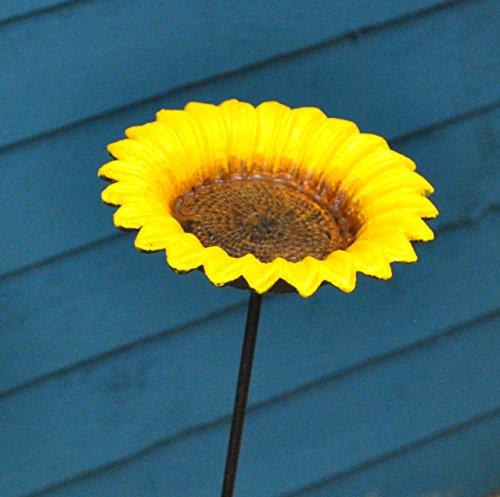 Cast Iron Sunflower Dish Design Wild Bird F
