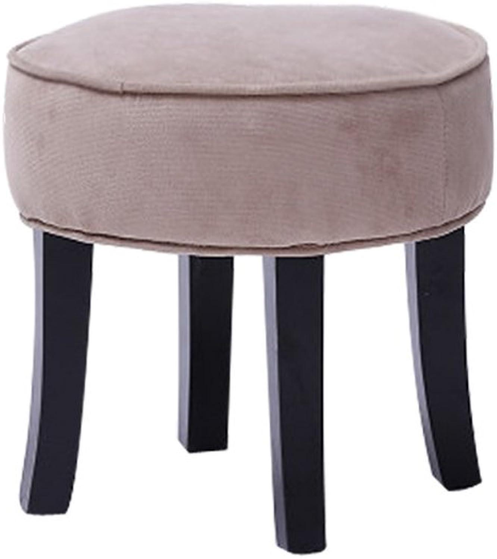 LYXPUZI Fashion Creative Fabric Stool, Solid Wood Stool, shoes Bench, Stool, Stool, shoes Bench, Small Bench (color   A)