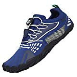 Zapatillas de Trail Running Minimalistas Hombre Barefoot Respirable Secado rápido Hombres Zapatos de Agua Deportes Acuáticos Escarpines Azul 42