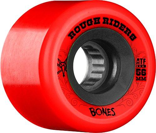 #9. Bones Wheels Rough Riders 59mm Red