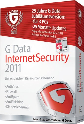 G Data InternetSecurity 2011 3PC, 25 Monate Updates