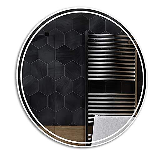 Alasta LED Miroir Rond Murale | 90 cm | Wenezia - 17 Accessoires au Choix | Nouvelle Génération Miroir avec Accessoires