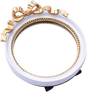 LIHY Miroir de Maquillage- Miroir de Bureau européen Simple côté créatif Princess Dressing Mirror HD Miroir de Maquillage de Bureau