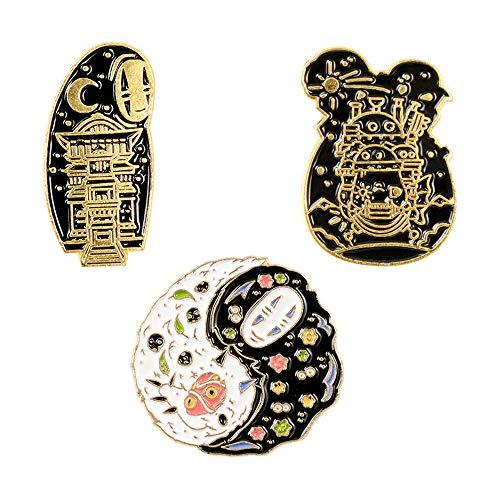FULAISI Broches con diseño de ocho diagramas Yin y Yang, insignias para ropa, chaquetas, mochila, broche para ropa, collares, gorras, broches decorativos.