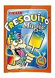 FIESTA Fresquito Magic Caramelo con Palo en Sobre con Polvo Acidulado Sabor Mandarina y Fresa - Pintalenguas - Caja de 40 unidades