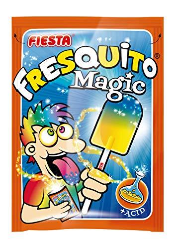 Fiesta Fresquito Magic Caramelo con Palo Polvo Acidulado Mandarina (40 ud)
