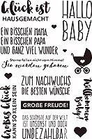 ドイツ語透明クリアシリコンスタンプ/DIYスクラップブック/フォトアルバム用シール装飾クリアスタンプシートST0138