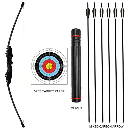 rootmemory Archery Recurve Bow and Arrow Set for Adults 30 lbs with Quiver, Takedown Bow Kit for Outdoor Hunting Training Right Hand
