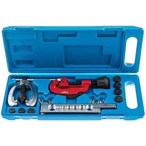 SATRA S-7DFT | Bördelgerät Werkzeug Set für KfZ Bremsleitungen mit Rohrschneider