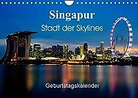 Singapur Stadt der Skylines (Wandkalender 2022 DIN A4 quer): Einzigartige Aufnahmen einer asiatischen Metropole (Geburtstagskalender, 14 Seiten )