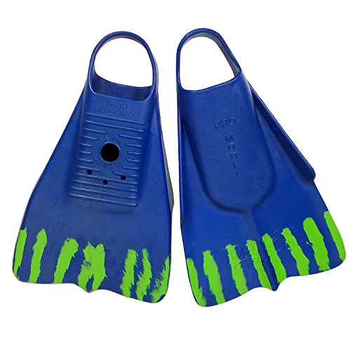 DaFin Brian Keaulana Signature Swim Fin | Navy/Lime Green | XL | for Bodyboarding Bodysufing Snorkeling Diving Pool Training