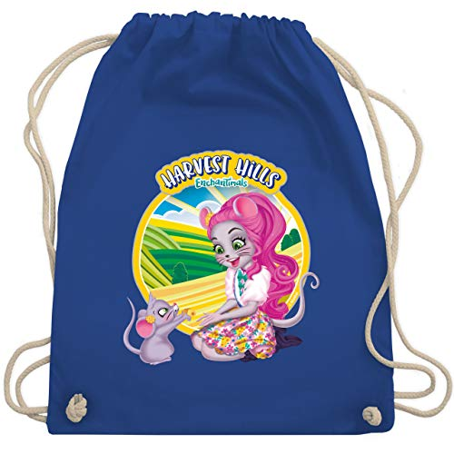 Shirtracer Enchantimals Tasche - Harvest Hills - Mayla Mouse - Unisize - Royalblau - Mayla Mouse & Fondue - WM110 - Turnbeutel und Stoffbeutel aus Baumwolle