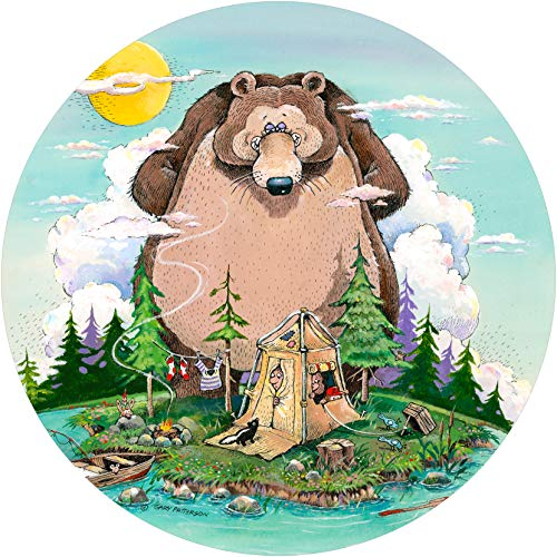 TIRE COVER CENTRAL Up a Creek Bear Campers Wildlife Spare tire Cover (Select tire Size/Back up Camera in MENU) Sized to Any Make/Model