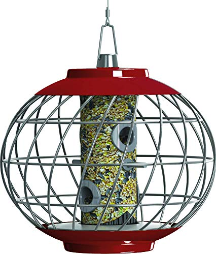 The Nuttery HELD04R Helix Seed Bird Feeder, RED