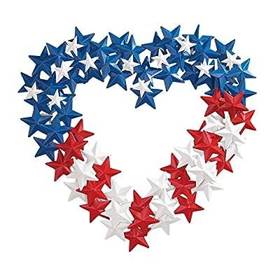 Patriotic American Flag-themed Star Wreath, Iron