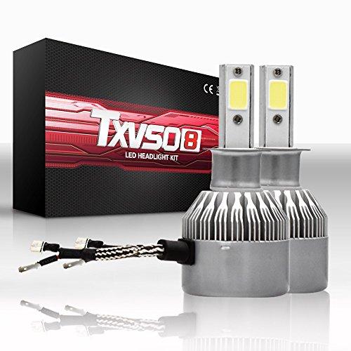 Luces LED para coche Bombillas antiniebla H3 - Todos los tamaños y colores de la bombilla - 6000K Blanco brillante a 4600 lm por bombilla - Plug-n-Play (paquete de 2) - Lámparas de luz antiniebla Faro