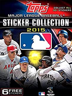 Topps 2015 MLB Baseball Hobby Card Collector's Stickers Album + 6 Free Stickers!