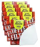 カリタ コーヒーフィルター 103濾紙 4~7人用 ホワイト (#15001) 50枚入x10