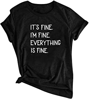Women Short Sleeve T-shirt Tops, Ladies O-neck Letter Printed Tee Shirt Blouse Pullover Top
