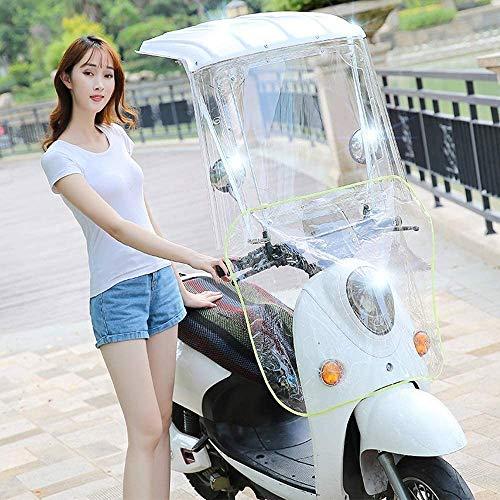 Wxnnx - Funda de sombrilla para moto eléctrica, funda de lluvia para paraguas de scooter, impermeable, funda de paraguas para toldo de coche con batería, color blanco
