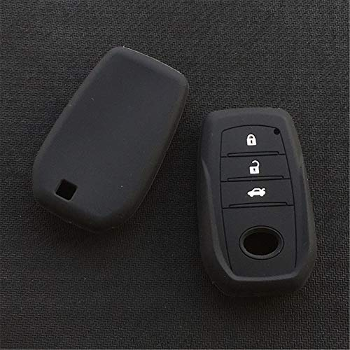 Funda Protectora de Goma de Silicona para Llave, 2 Piezas, para Toyota Chr Rav4 Auris Avensis Prius Aygo Camry Land Cruiser 200 Prado Crown
